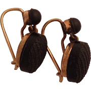 Wonderful Original Victorian Jet Mourning Earrings