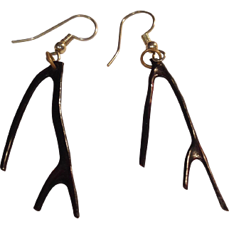 Genuine Black Branch Coral Earrings