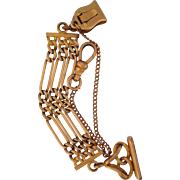 Victorian Gold Filled Clip Fob with Watch swivel