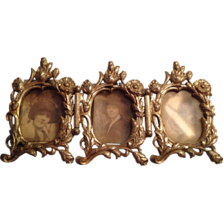 Unusual Three Section Art Nouveau Mini Frame