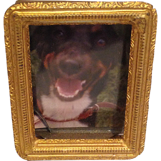 Sweet Vintage Brass Miniature Frame