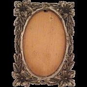 Sweet Vintage Silverplate Miniature Frame