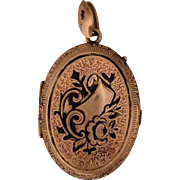 Lovely Gold Filled Victorian Locket with Enamel
