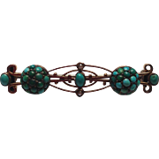 Victorian Turquoise and Seed Pearl Bar Pin