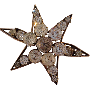 Victorian Paste Star Pin