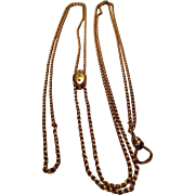 Pretty Gold Filled Victorian Slide Chain with 14K Slide