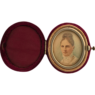Portrait Miniature in Velvet Case