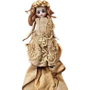 Nice antique French mignonette all bisque doll 4 inches