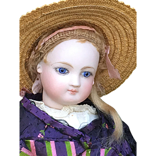 Wonderful jumeau fashion doll 16 inches tall bisque and wood arms