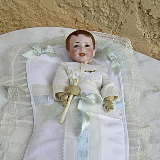 Sfbj 235 size 4, french baby bisque doll