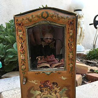 antique coach For mignonnette Doll 9,2 inches tall