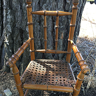 Antique small chair for bisque doll