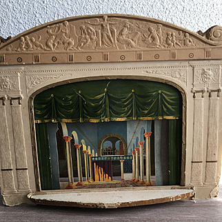 Antique theater 1870 years for dolls