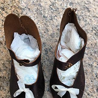 Rare Jumeau shoes size 14 médaille d or 1878