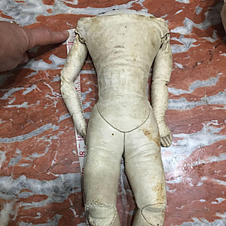 Antique leather body for fashion bisque doll 16 inches