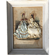 Antique painting with fashion bisque doll mode