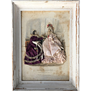 Nice antique painting of fashion bisque doll mode