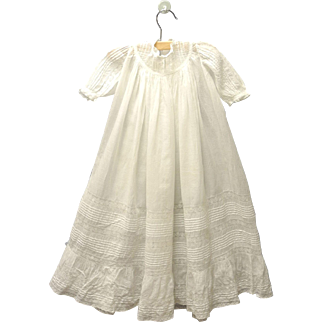 Vintage Beautiful Handmade 1880's White Lace Christening Gown