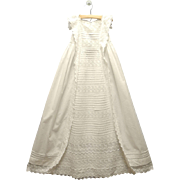 Vintage Gorgeous Handmade Victorian White Lace Christening Gown