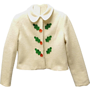 1920's Lord & Taylor Cream Wool Girl's Coat