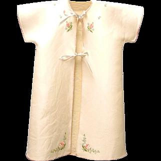 1940's Handmade Cream and Pink Crib Coat Set Vintage Baby Coat Vintage Baby Clothes