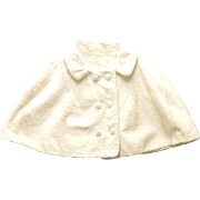 1960's Ivory Faux Fur Girl's Capelet