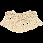 1920's Hand Crochet Ecru Baby Girl Capelet