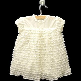 1950's Cream Lace Baby Girl Dress