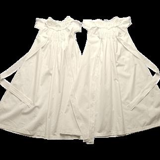 1880's Rare Handmade Twin White Christening Gowns