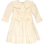 Vintage Beautiful Handmade 1880's White Sailor Baby Dress