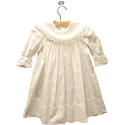 Vintage Exquisite Handmade Victorian White Cotton Lace Baby Dress