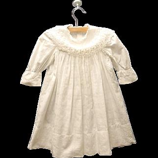 Vintage Exquisite Handmade Victorian White Cotton Lace Baby Dress