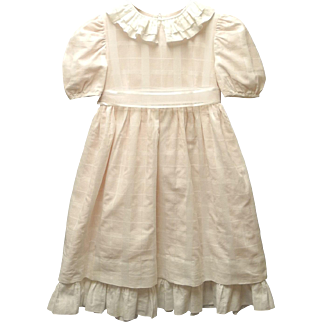 Vintage Lovely 1960's Neiman Marcus Pale Pink and White Girl's Dress