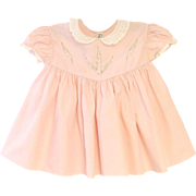 Vintage Lovely 1940's Alfred Leon Petal Pink and White Lace Baby Dress
