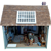 "Completed Cape Cod 1"" Scale Dollhouse & ""Country Interiors"" Home Decor Furniture & Accessories"