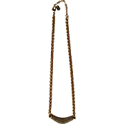 Christian Dior & Swarovski Crystal Gold Tone Necklace with Box