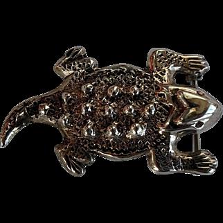Unique/Rare Uromastyx Lizard Reptile Sterling Silver 925 Pin