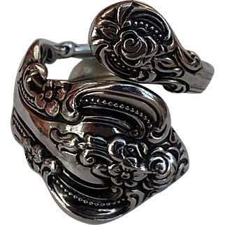 El Grandee Towle Sterling Silver 1964 Bypass Spoon Ring - Size 7