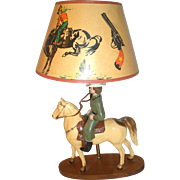 Dale Evans Vintage  Western Lamp