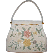 Floral Beaded Evening Bag