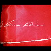 Anne Klein Silk Red with White Edge