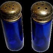 Cobalt Blue Glass Salt & Pepper Shakers  #2