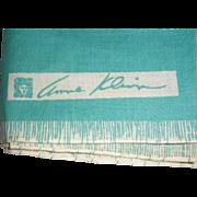 Anne Klein Turquoise Cotton Scarf