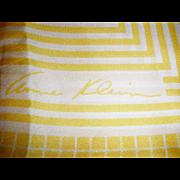 Anne Klein Silk- Yellow, White & Black Edge Scarf