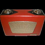 Raytheon  8TP4  Red & Black Leather Transistor Radio