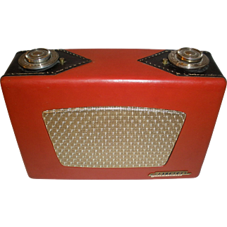 Raytheon  8TP4  Red & Black Leather Transistor Radio