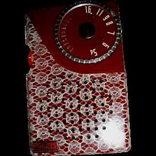 Toshiba Red Lace 5TR-193  Transistor Radio