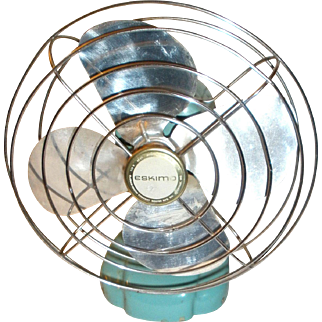 Eskimo Tourquoise Metal Fan