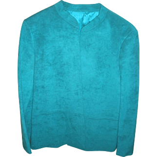 Ultra Suede Turquoise Jacket & Purse