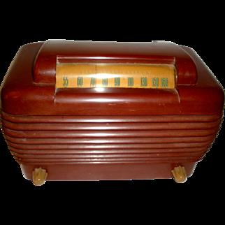 Stromberg Carlson Red Bakelite Tube Radio